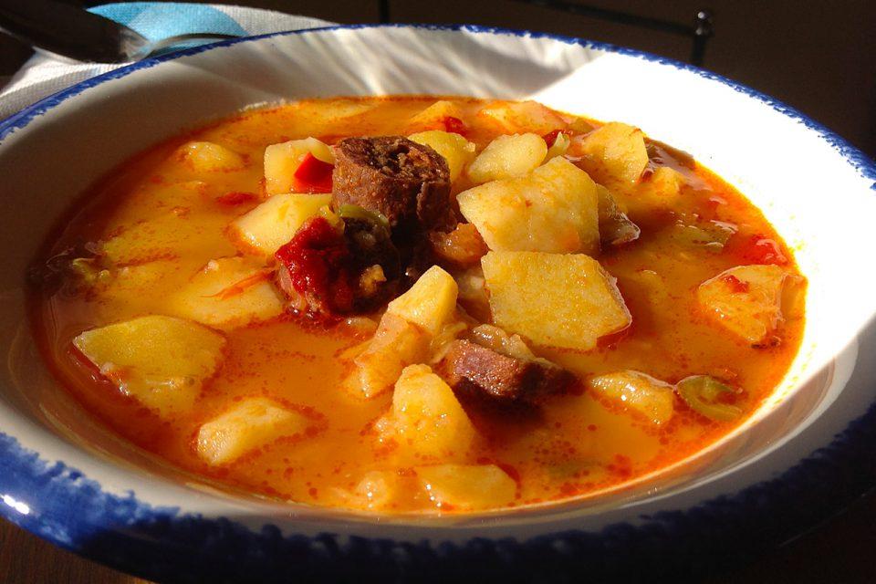 Recetas patatas con chorizo de jabali.