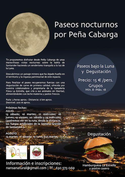 Los mejores paseos nocturnos por Peña Cabarga